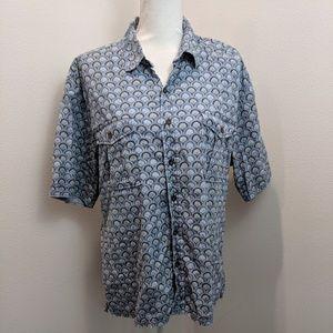 reyn spooner Contemporary Blue Shell Aloha Shirt